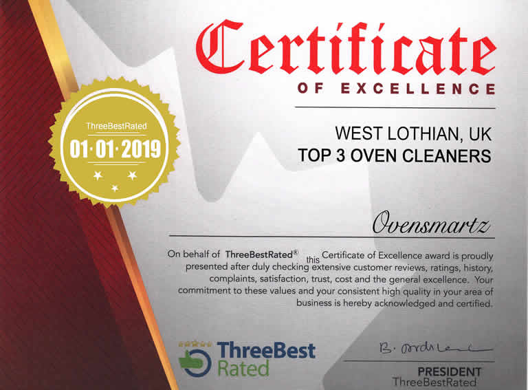 Certificate of Excellence West Lothian